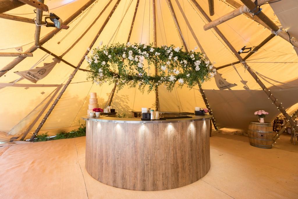 Circular Wooden Bar